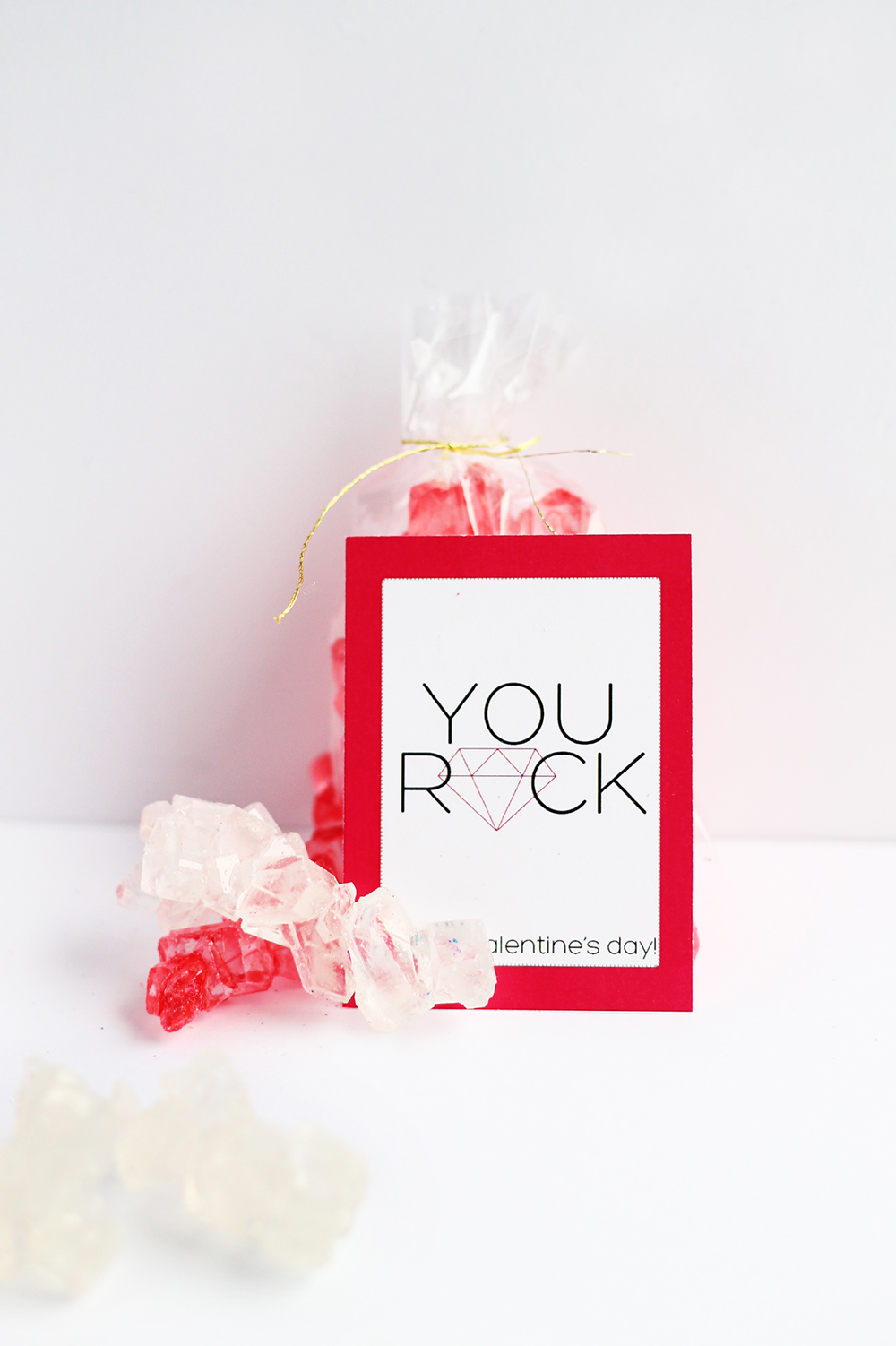 Free Printable Valentine's Day Cards from Squirrelly Minds. These are perfect for your kids at school or your own friends. Hand them out with rock candy to complete the fun message!