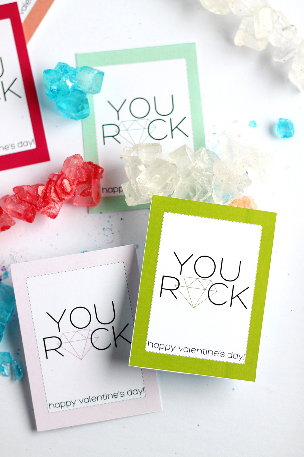photograph about You Rock Valentine Printable identified as Print Yourself Rock Printable Valentine - Squirrelly Minds