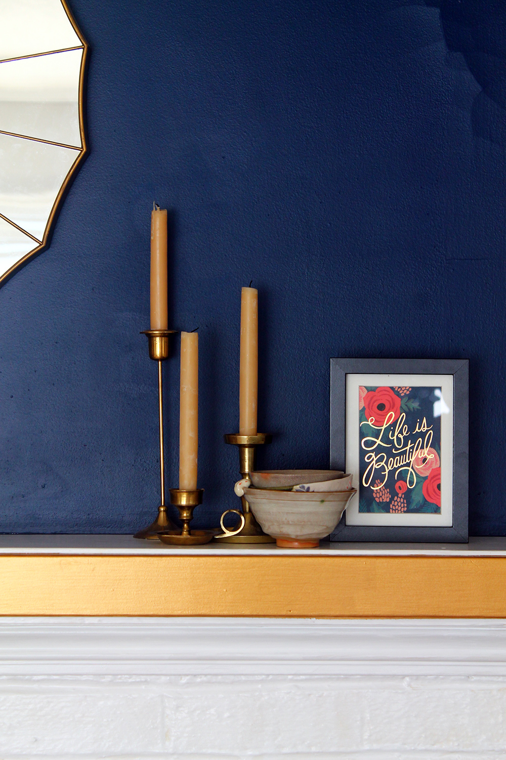 Navy and Gold Living Room Tour | Squirrelly Minds
