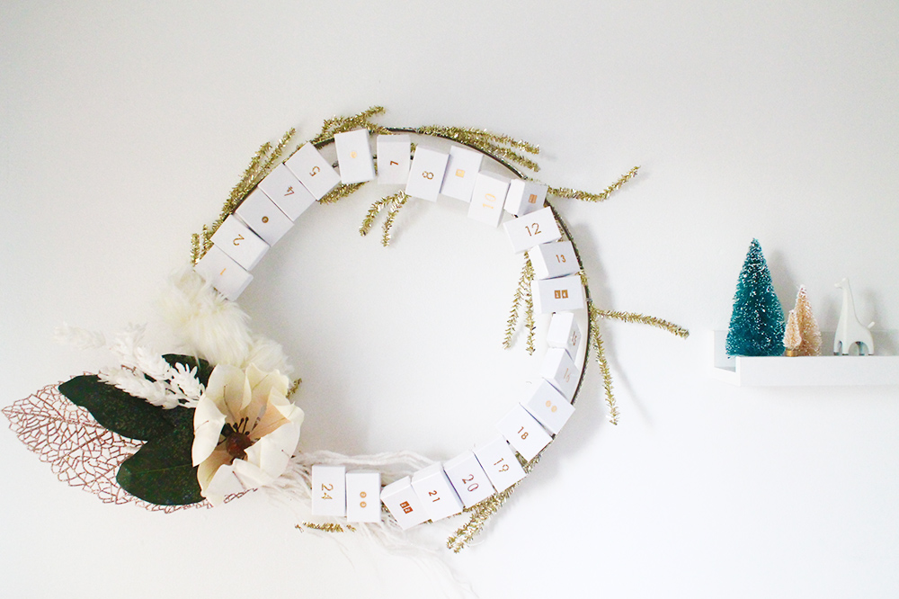 Diy Advent Calendar Wreath : Diy holiday advent calendar wreath squirrelly minds