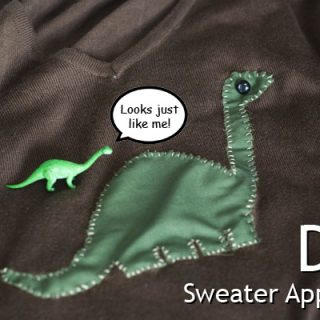 Guest Post – Appliqué DIY by Anita (with a dinosaur template)