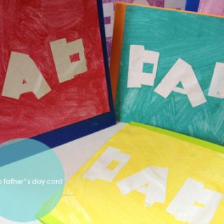 Negative Space Letter Cards DIY & Father's Day Card Printables