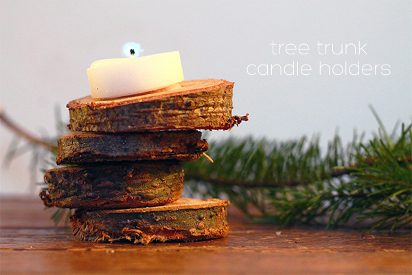 Christmas tree trunk candle holders squirrelly minds