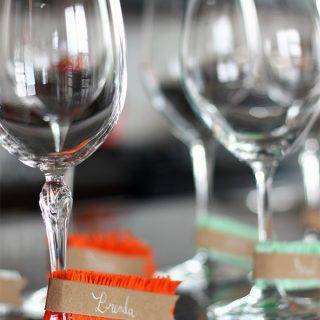DIY | Fringe Wine Glass Name Tags