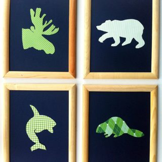 DIY   Give It Away with Kate J: Canadian Animals Nursery Art