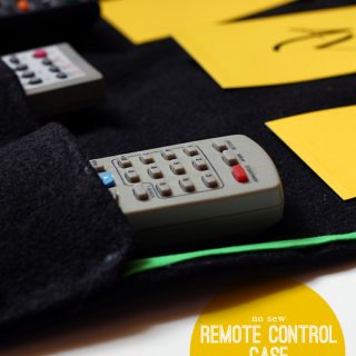 DIY | No Sew Remote Control Case for dad