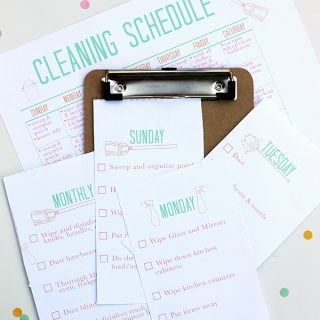 Print | Printable Cleaning Schedule