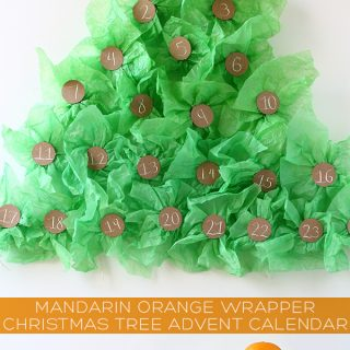 DIY/Holiday | Mandarin Orange Wrapper Christmas Tree Advent Calendar
