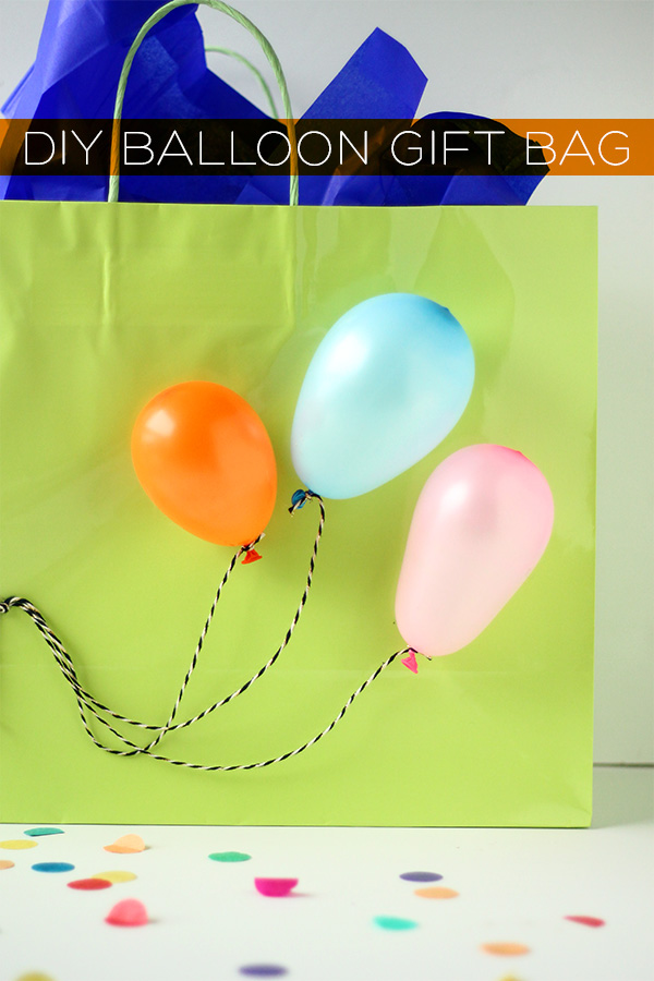 DIY Balloon Gift Bag | Squirrelly Minds
