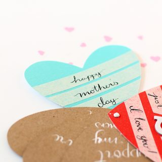 DIY/Holiday | Mother's Day Heart Fan Card