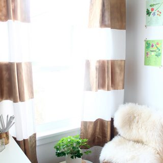 DIY | Gold Painted Curtains
