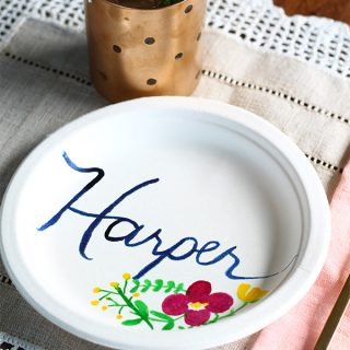 DIY/Entertain | Food Colouring Painted Plates