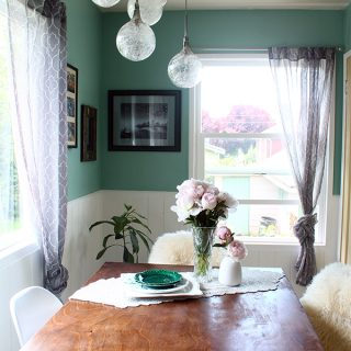 Home/Life | Teal and White Dining Room Makeover – After