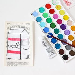 DIY | Book Page Art