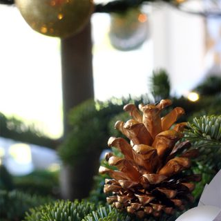 DIY/Holiday | Golden Pinecone Christmas Tree