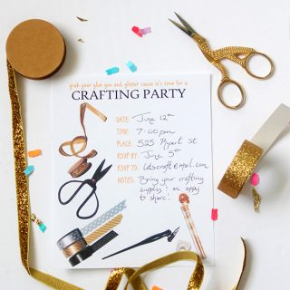 Print | Craft Party Invitation Printable