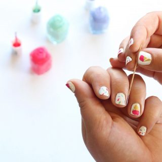DIY | Ice Cream Cone (with sprinkles!) Manicure