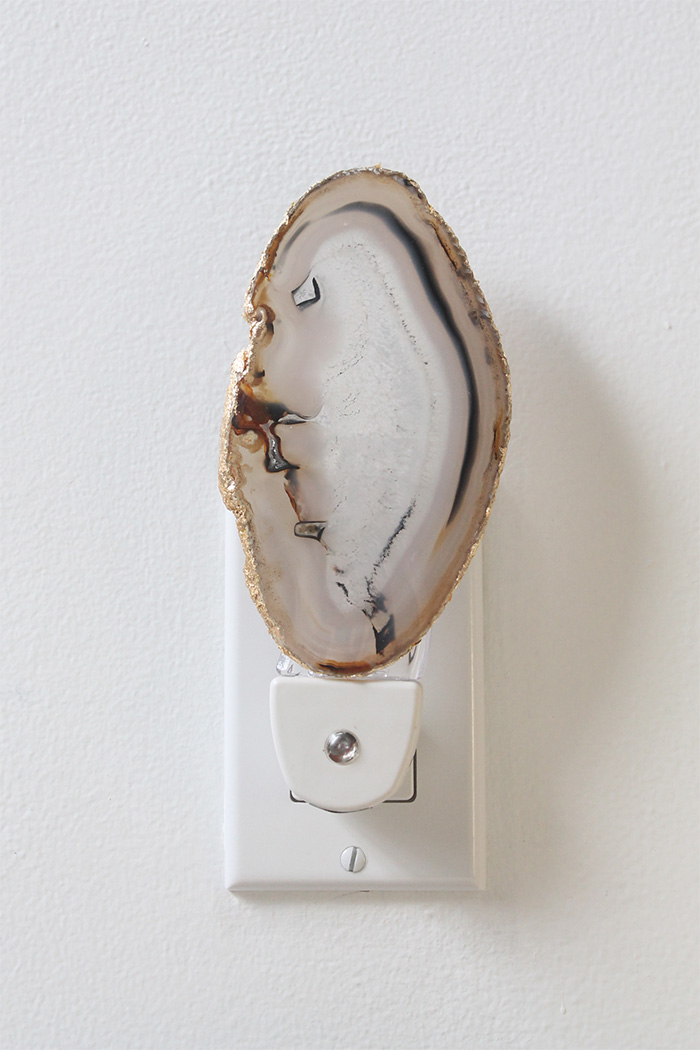 DIY Agate Night Light | Squirrelly Minds