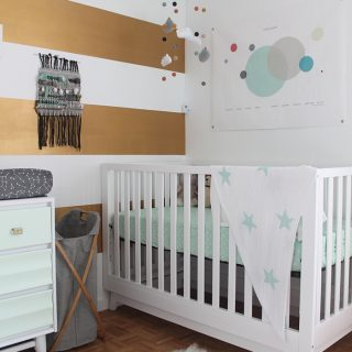 Home | Mint, Grey, and Gold Nursery