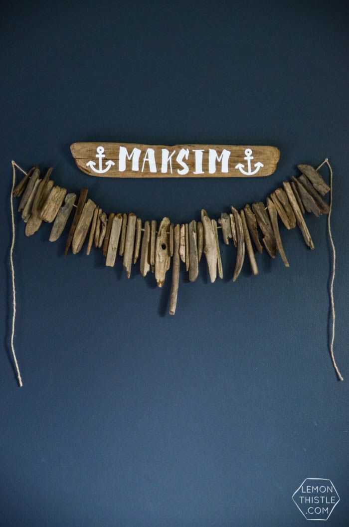 DIY Driftwood sign by Lemon Thistle on Squirrelly Minds