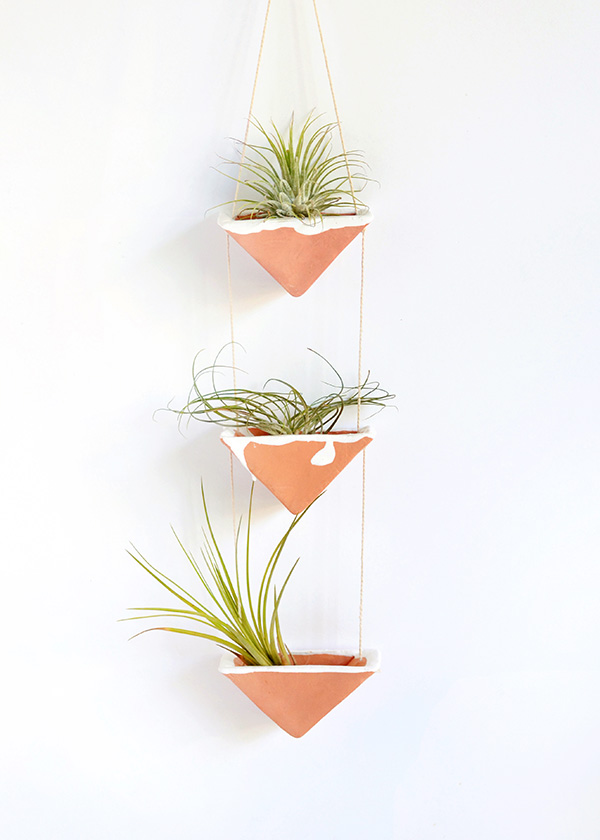 Diy Clay Hanging Air Plant Holders Squirrelly Minds