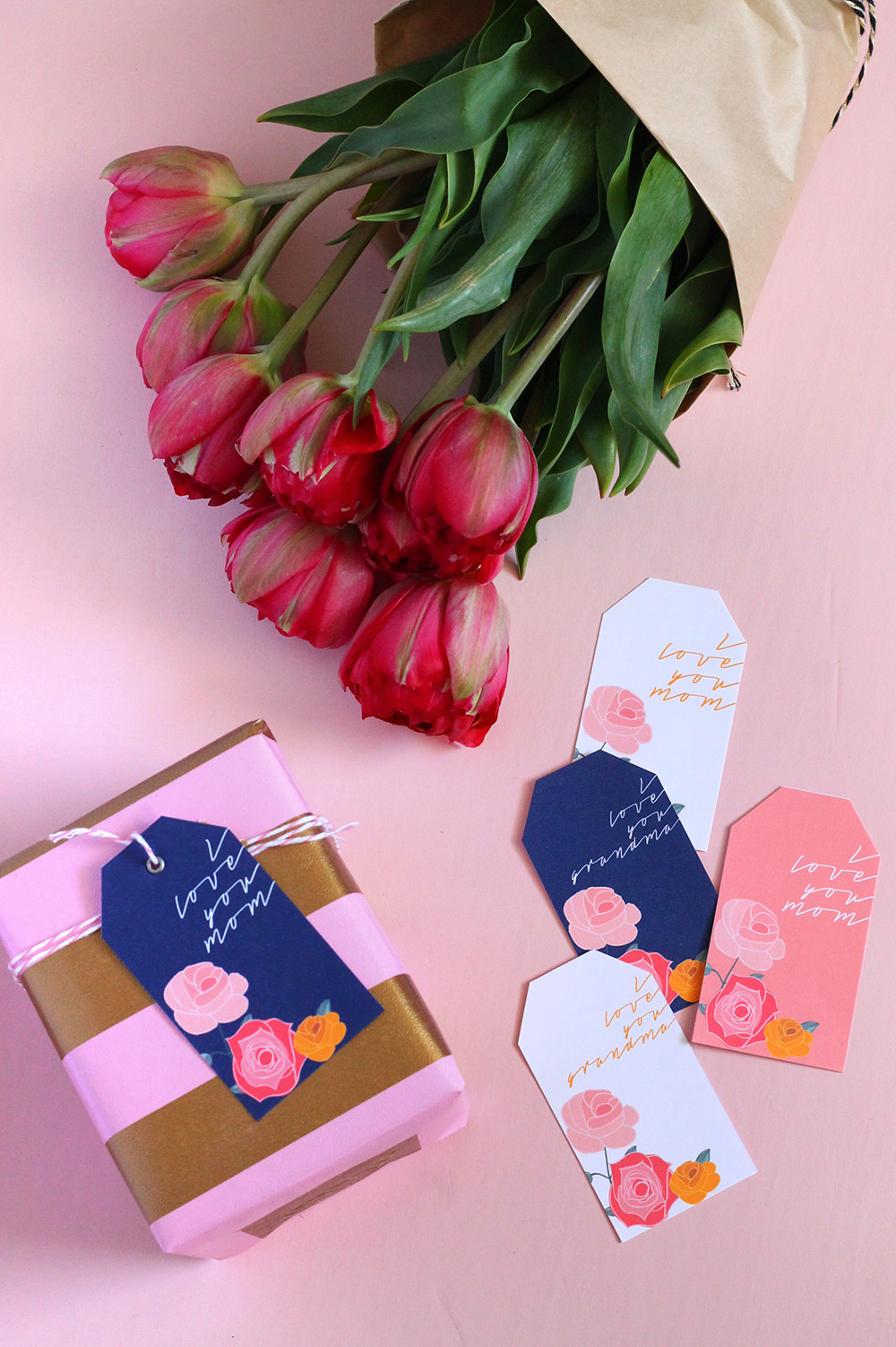 Top 20 Mother's Day Projects - Printable Gift Tags from Squirrelly Minds | Squirrelly Minds