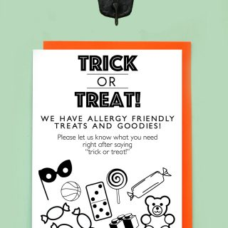 Print | Printable Halloween Allergy Poster (it's also a colouring sheet!)