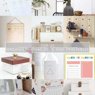Top 20 Organization DIY's and Printables