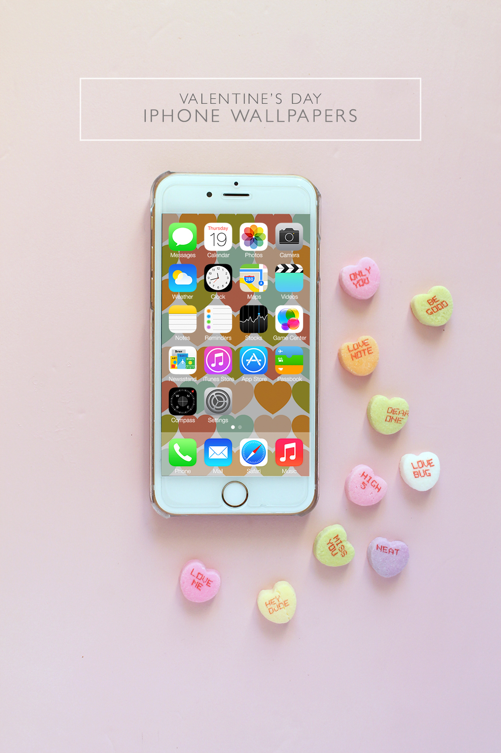 Download these Free Valentine's Day iPhone Wallpapers | Squirrelly Minds