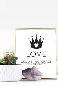 Printable Love Quote Poster 'Crowning Grace' | Squirrelly Minds