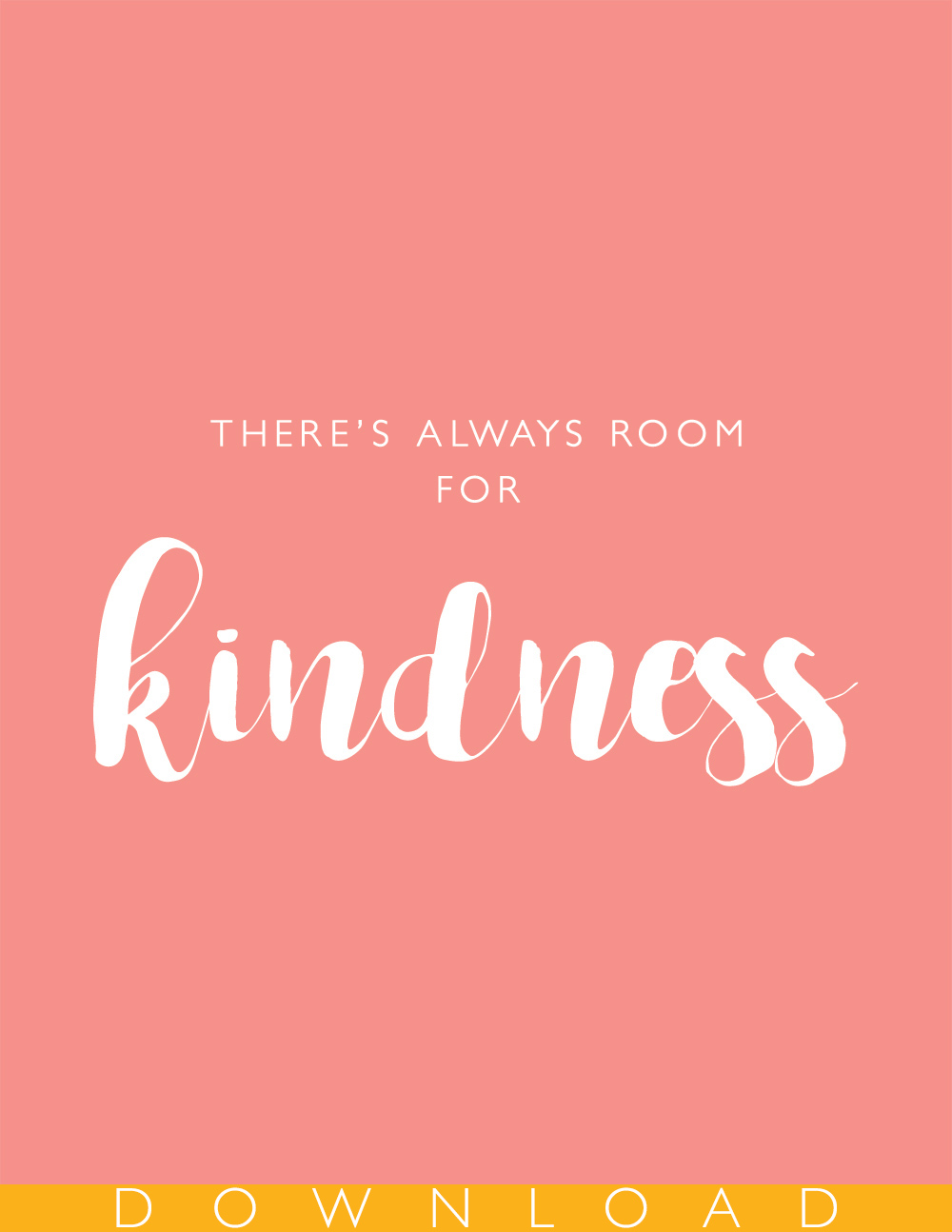 Free printable kindness print | Squirrelly Minds