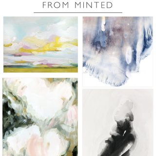 Affordable painted artwork from Minted