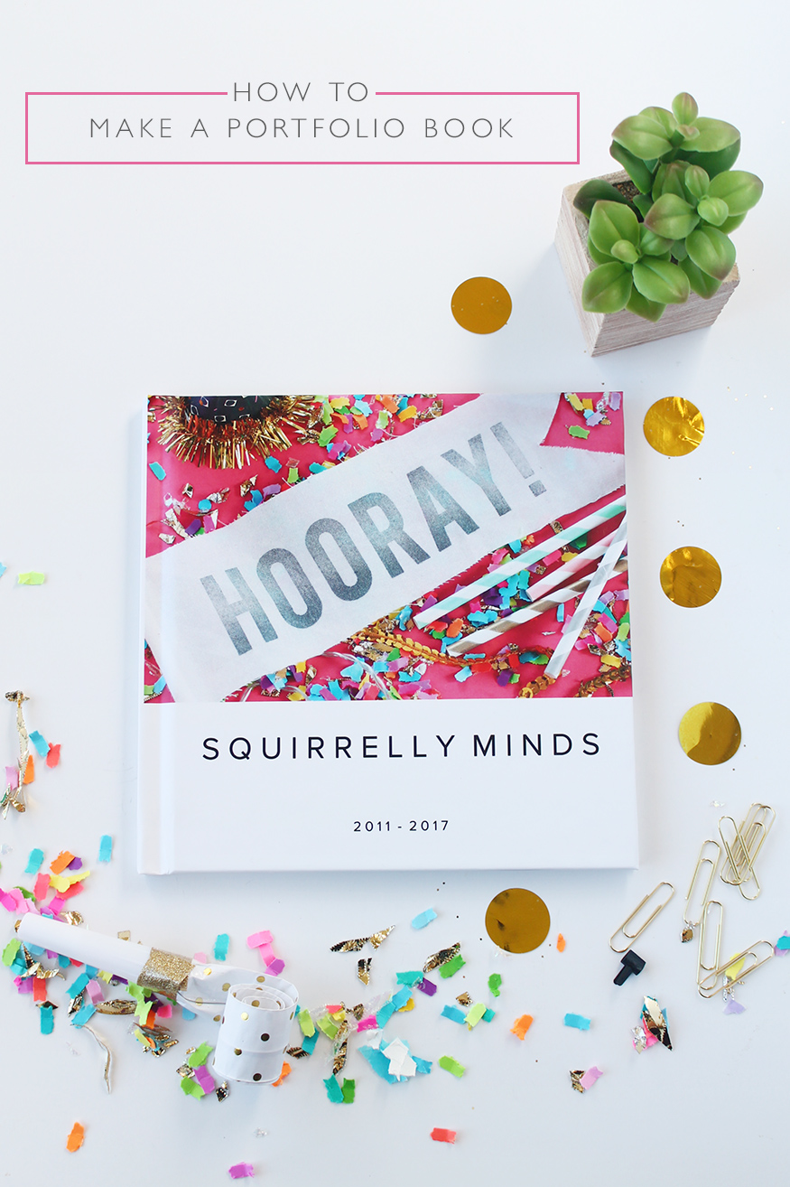 How to make a portfolio book | Squirrelly Minds