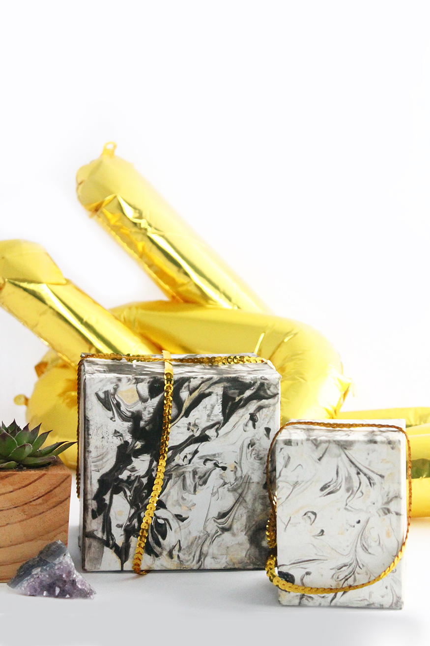 DIY Marbled Gift Boxes | Squirrelly Minds