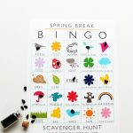 Keep the kiddos entertained this spring break with this printable bingo scavenger hunt   Squirrelly Minds