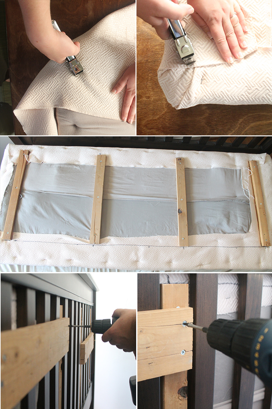 Steps for how to create an upholstered mission style headboard insert | Squirrelly Minds