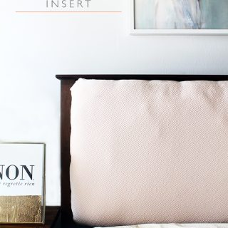 How to create an upholstered mission style headboard insert