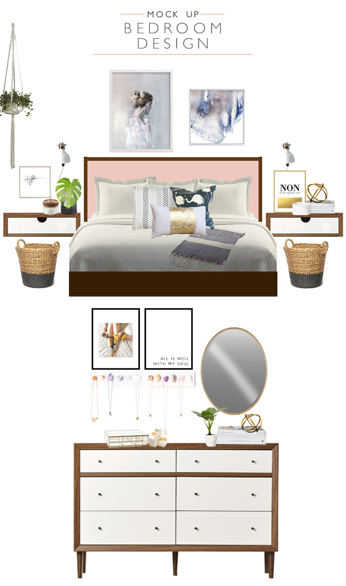 Mock Up Bedroom Design | Squirrelly Minds