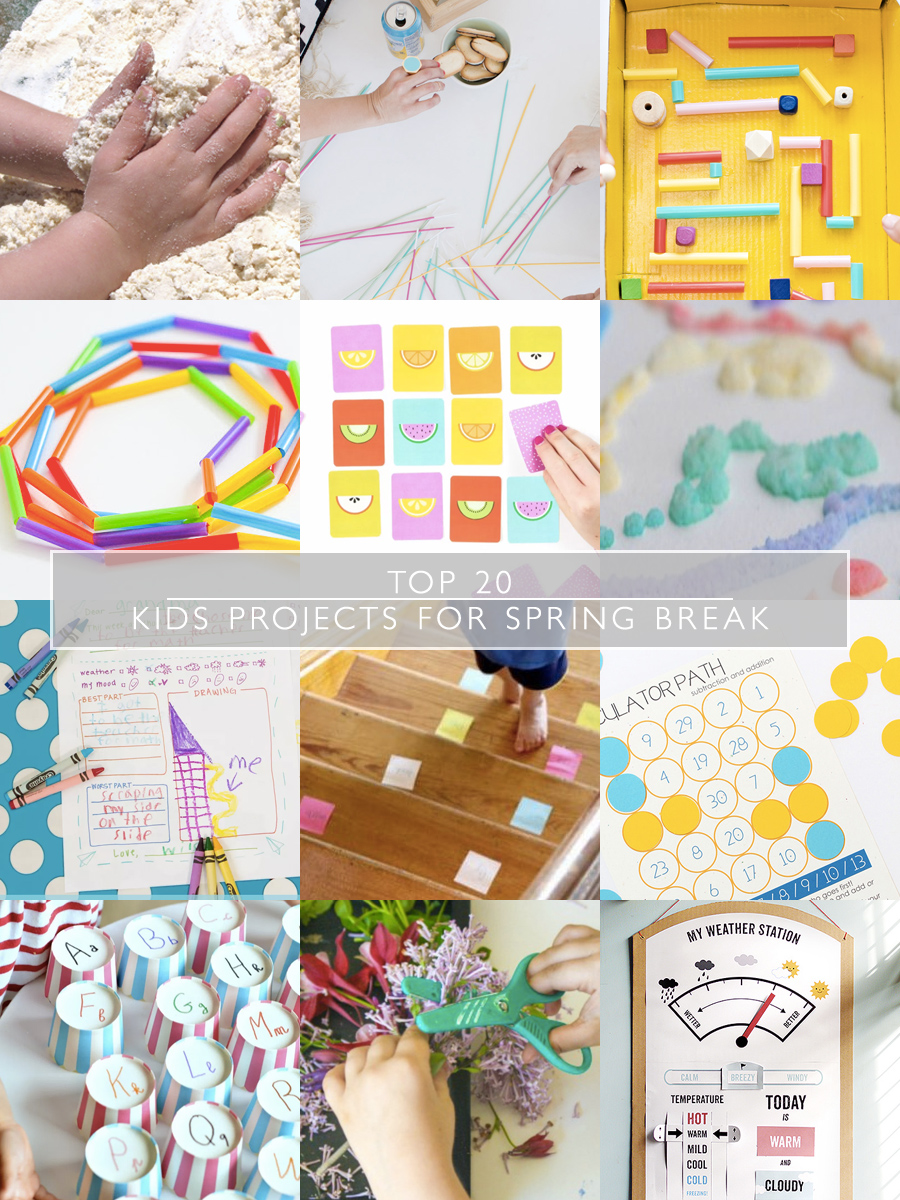 Top 20 Kids Projects for Spring Break   Squirrelly Minds