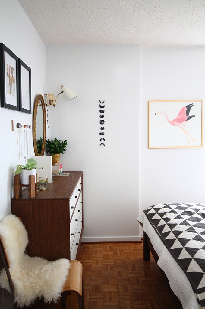 Small master bedroom fresh midcentury makeover squirrelly minds Master bedroom makeover pinterest