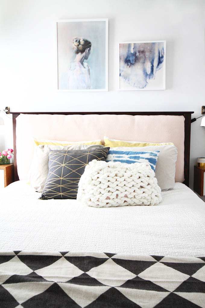 Small Master Bedroom Fresh Midcentury Makeover - before and after | Squirrelly Minds