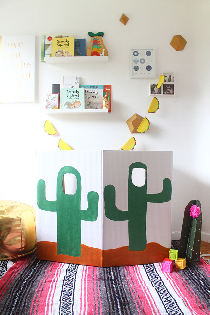 DIY Cactus Photo Booth | Squirrelly Minds