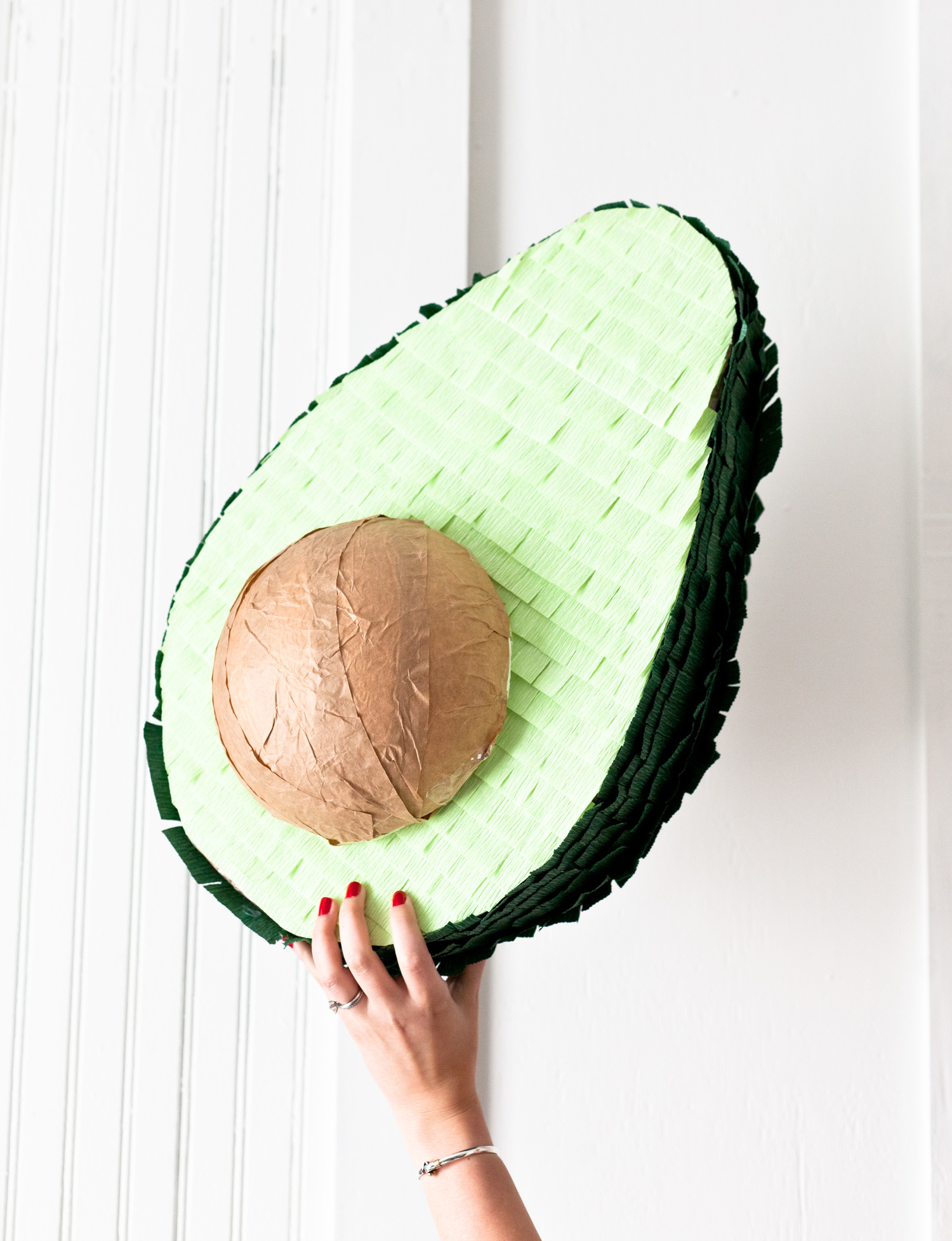 Top 20 Cinco de Mayo Projects - Avocado Piñata DIY from Healthfully Ever After | Squirrelly Minds