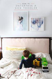 How to Entertain a sick toddler | Squirrelly Minds