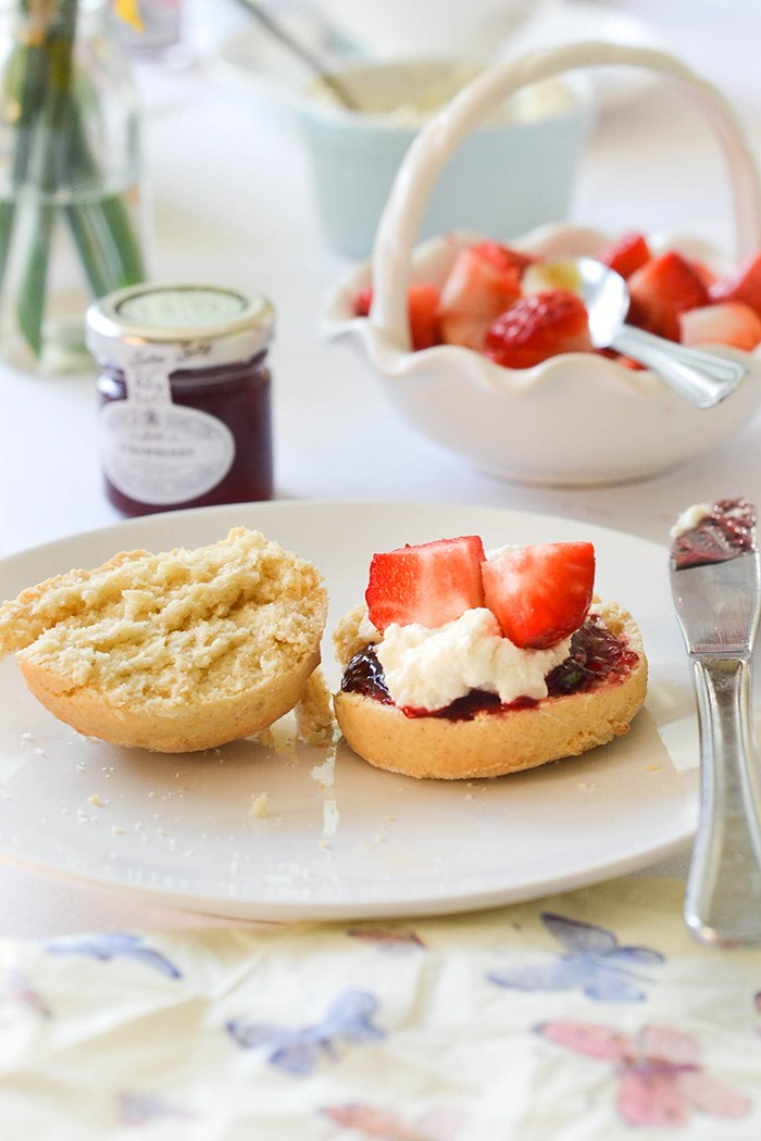 Vegan Scones with Clotted Cream on Wallflower Kitchen | Squirrelly Minds
