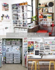 Organizing a Craft Room Closet | Squirrelly Minds