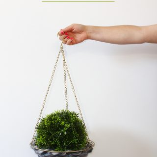 How to Turn a Hanging Fruit Basket into a Woven Hanging Planter