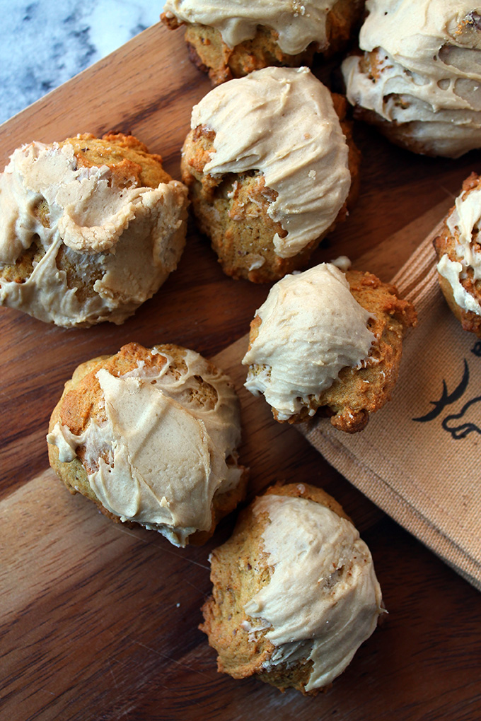 Mini pumpkin scones with brown sugar icing | Squirrelly Minds