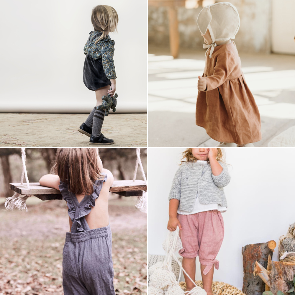 The best places to buy modern classic vintage baby girl clothes - Images by Bobazar, Cloth, Daughter, and Juniper Baby | Squirrelly Minds