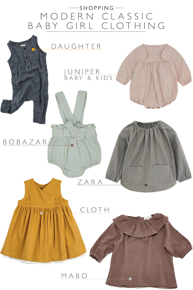 The best places to buy modern classic vintage baby girl clothes | Squirrelly Minds